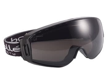 Pilot PLATINUM® Ventilated Safety Goggles - Smoke